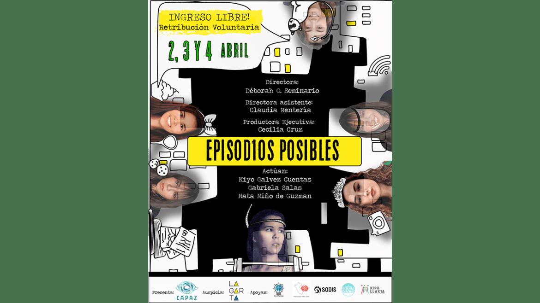Obra de teatro virtual sobre salud mental y confinamiento: «Episodios Posibles»