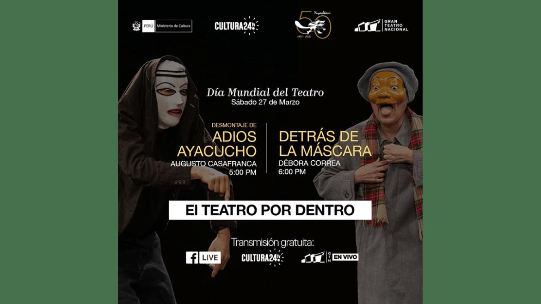 """Gran Teatro Nacional conmemora el """"Día Mundial del Teatro"""" con homenaje al Grupo Cultural Yuyachkani"""