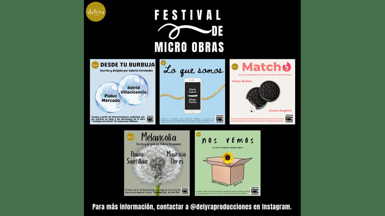 Primer Festival de Micro Obras de Delyra Producciones