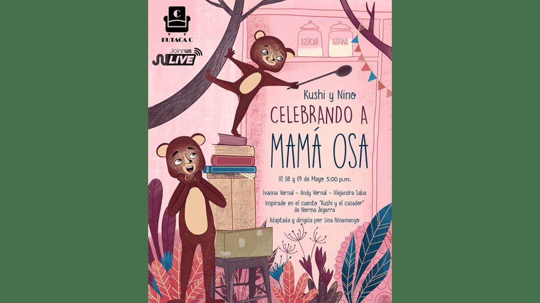Por el Día de la Madre se presenta «Kushi y Nino celebrando a mamá osa»