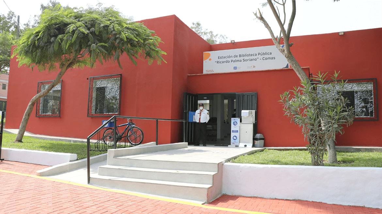 Conoce la renovada Estación de Biblioteca Pública «Ricardo Palma Soriano» de Comas