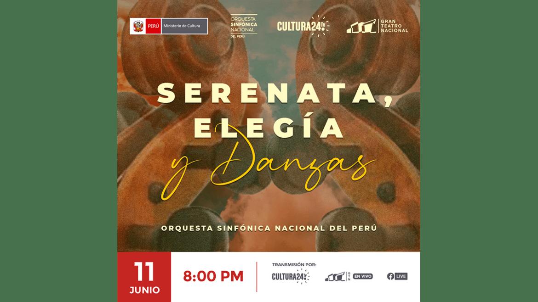 La Orquesta Sinfónica Nacional del Perú presenta concierto virtual de cuerdas «Serenata, elegía y danzas»