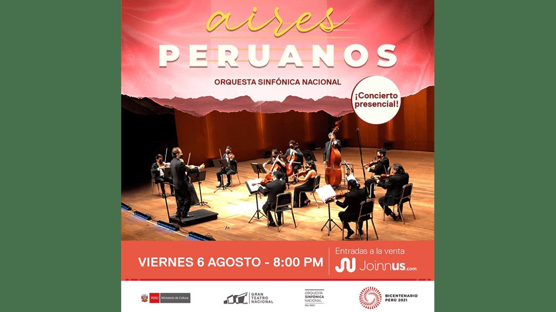 Orquesta Sinfónica Nacional del Perú regresa al Gran Teatro Nacional