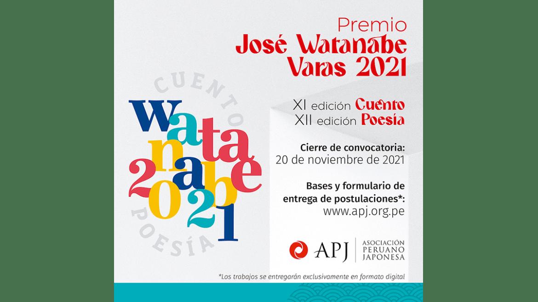 Asociación Peruano Japonesa abre convocatoria doble del «Premio José Watanabe Varas 2021» en Cuento y Poesía