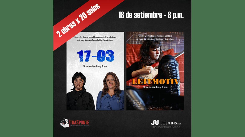 TraSpunte presenta las obras virtuales «17 – 03» y «Leitmotiv»
