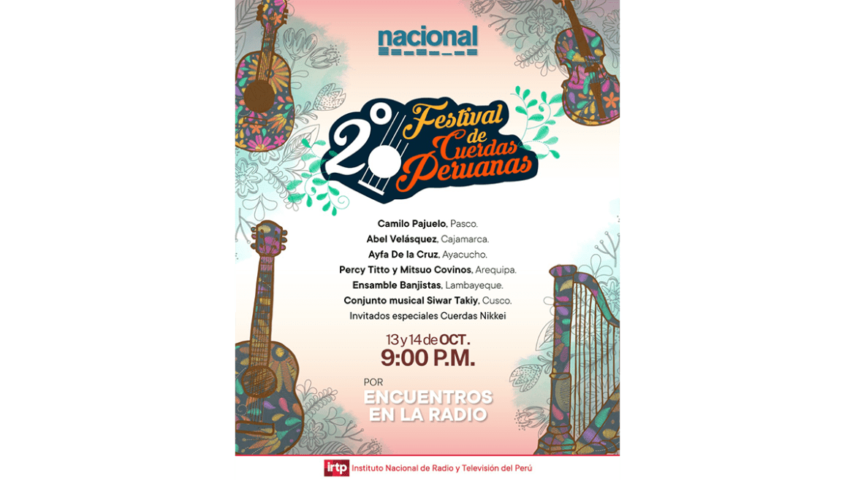 «Segundo Festival de Cuerdas Peruanas» organizado por Nacional